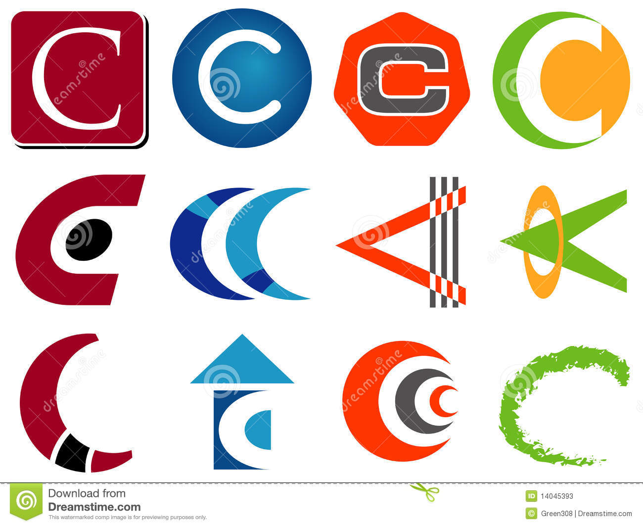 Letter C Logo Icons Stock Photos Image 14045393