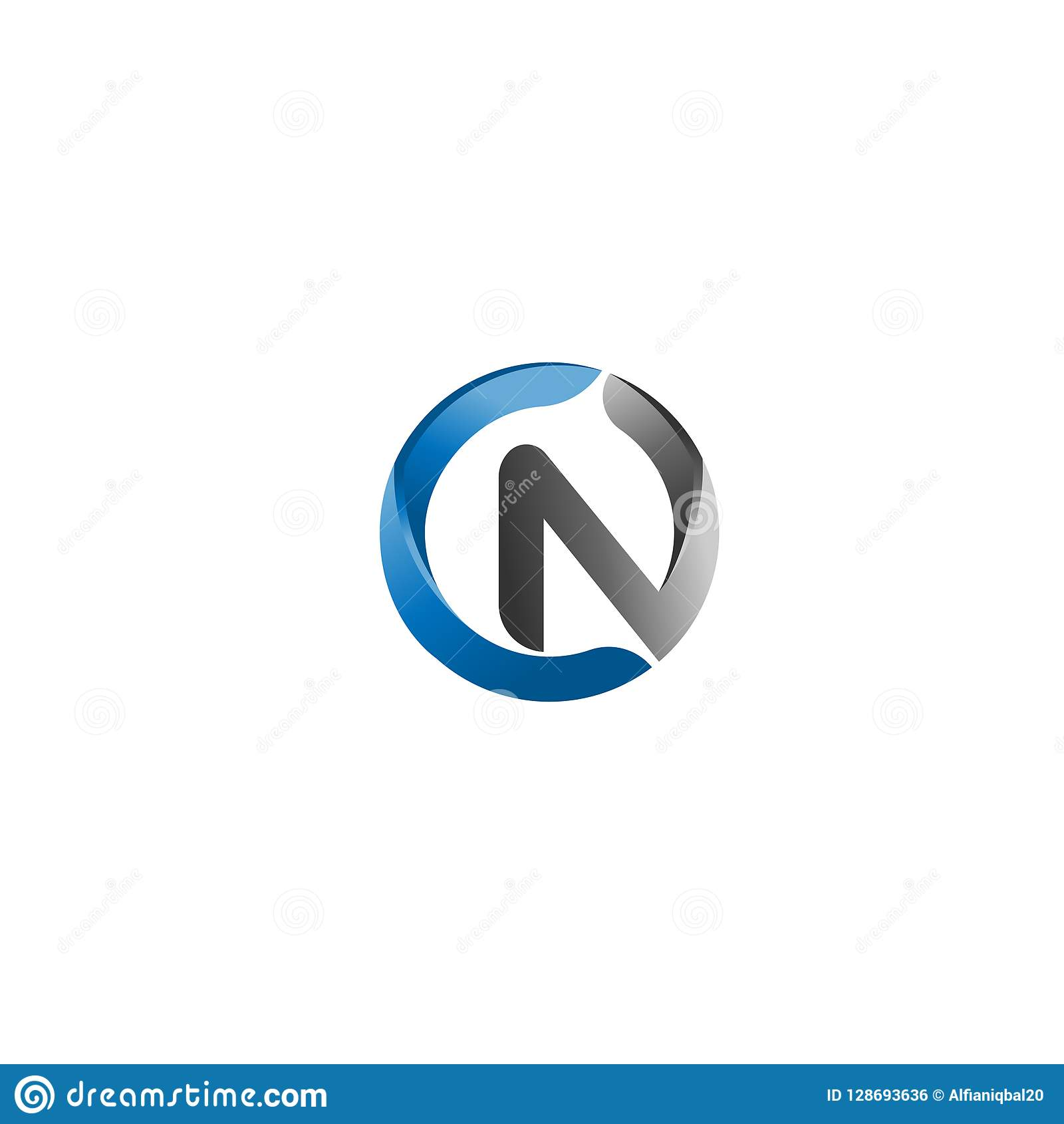 Letter C And N Logo Initial Vector Mark. C And N Letter