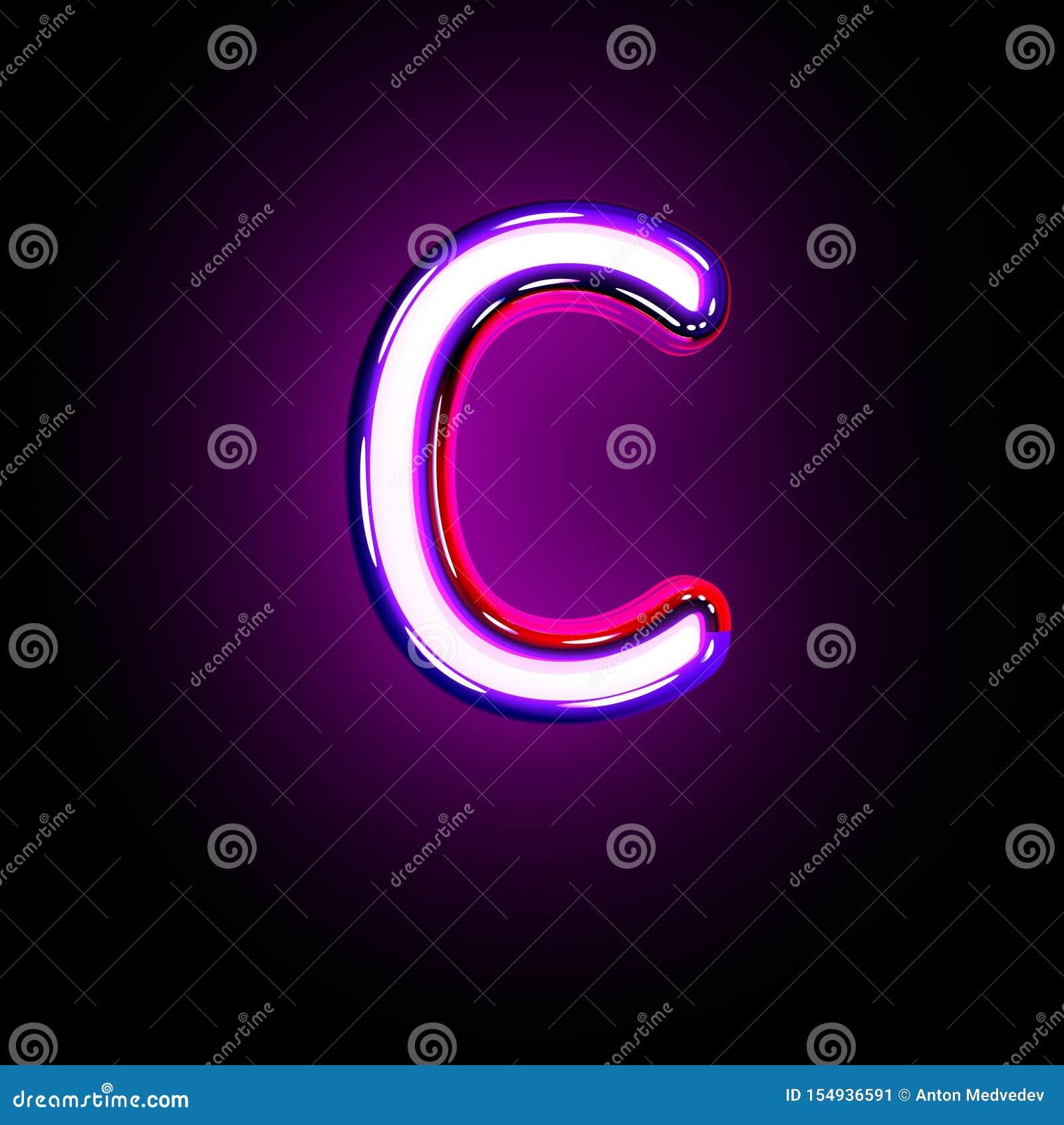 Purple Glowing Neon Font