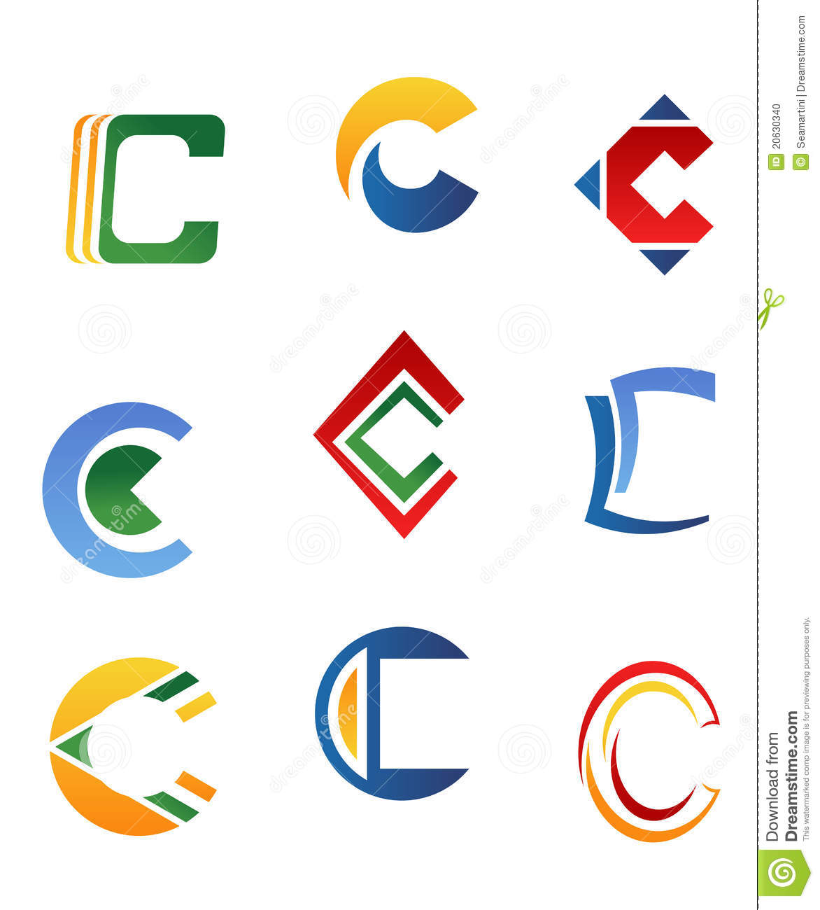 letter c symbols stock vector  illustration of decoration
