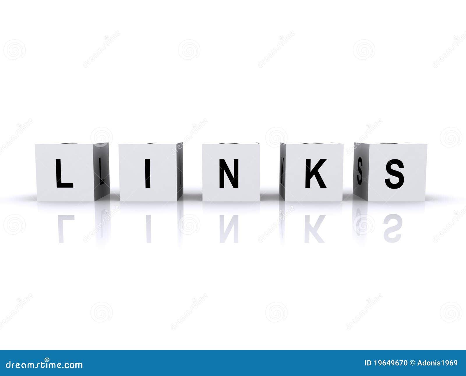 Letter cubes links