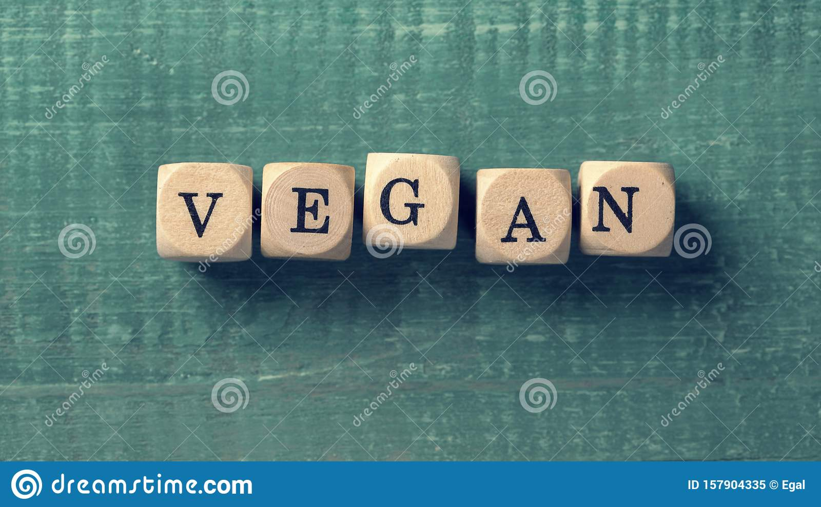 Letter cubes with word vegan