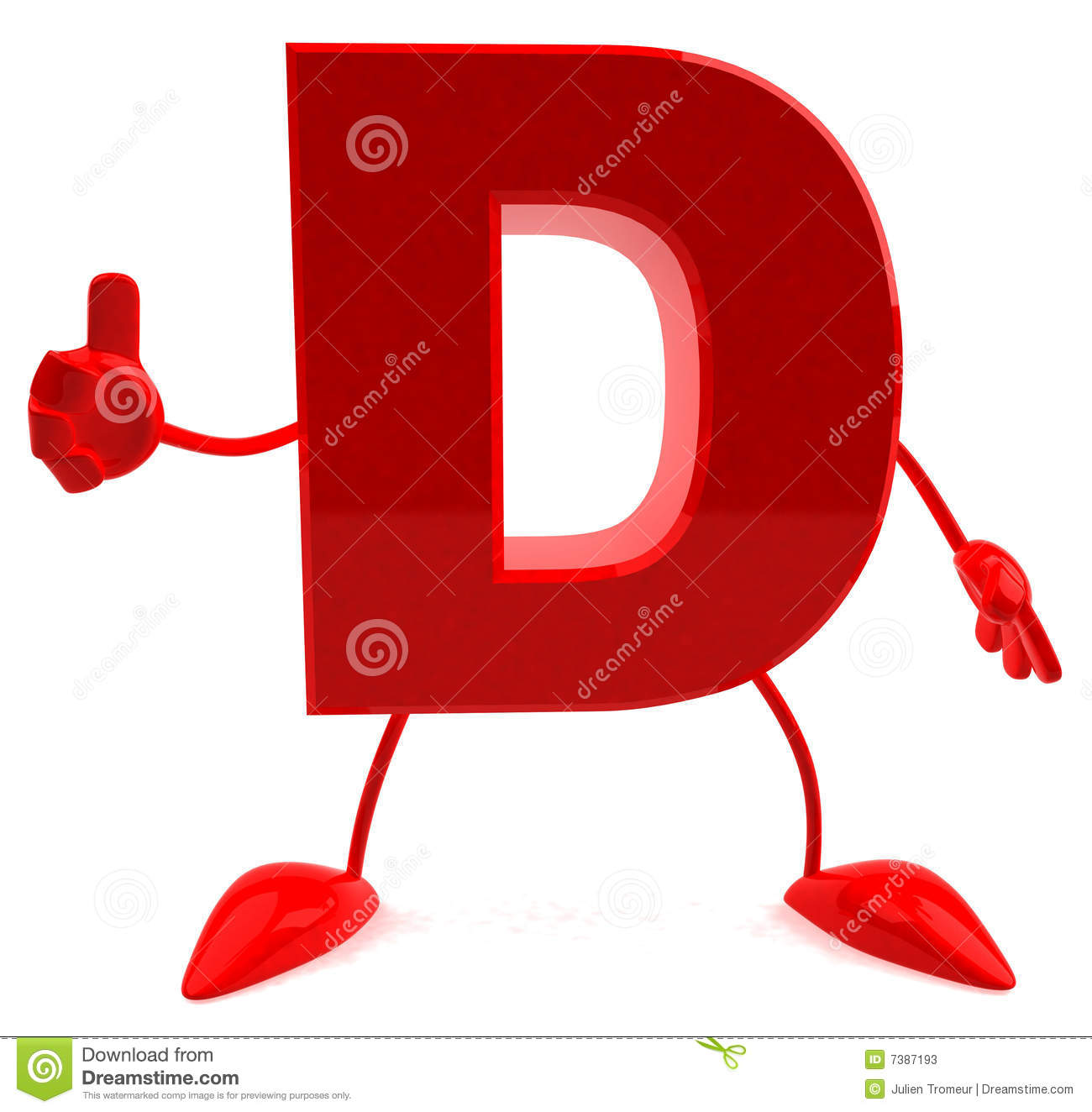 Letter D Stock Photos - Image: 7387193