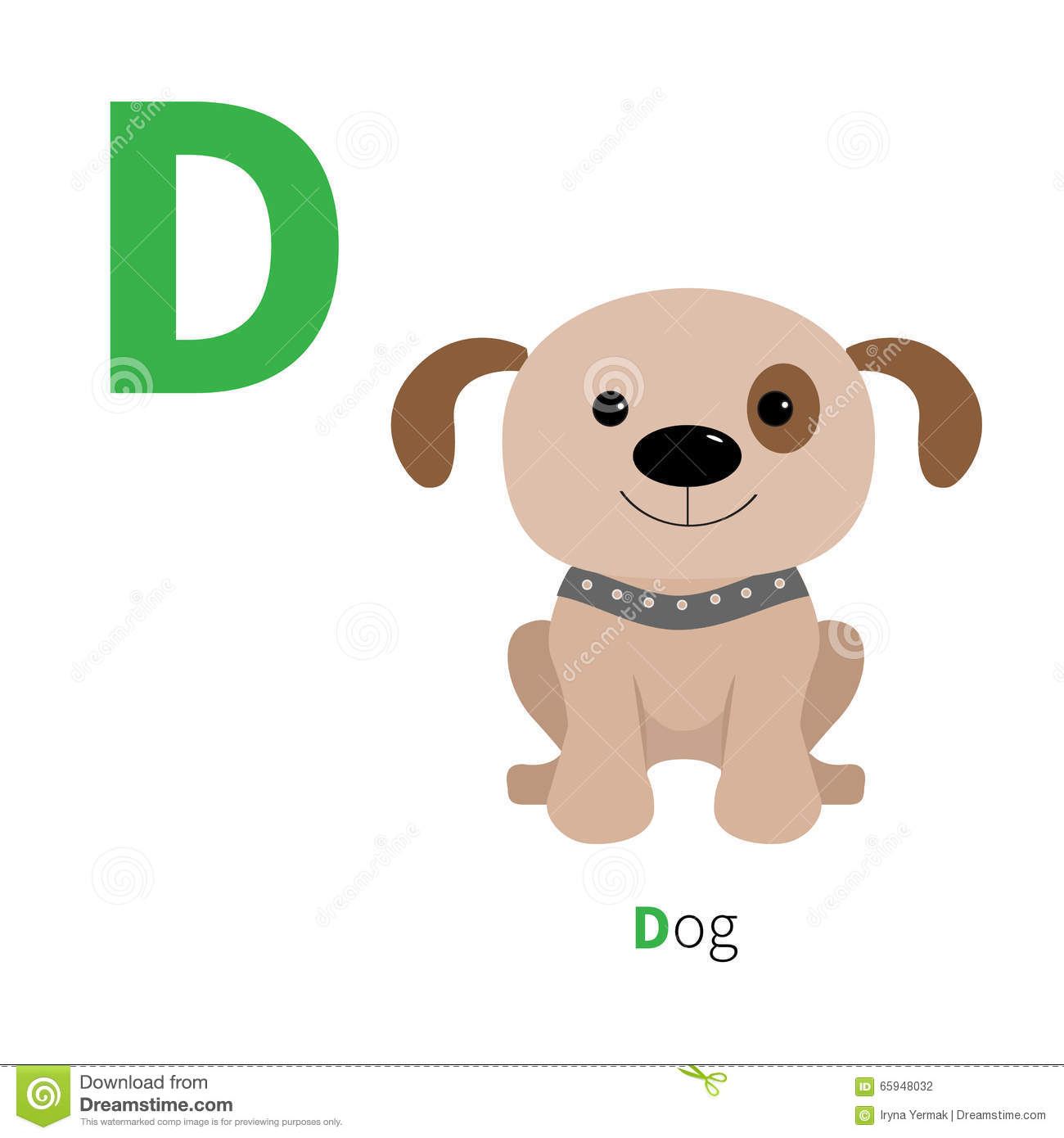 letter d dog zoo alphabet english abc with animals education cards