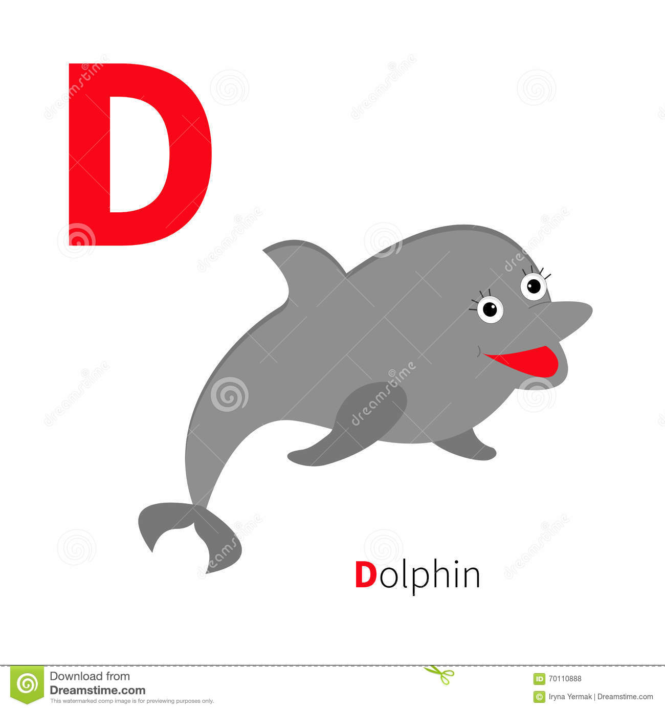 letter d dolphin zoo alphabet english abc with animals education