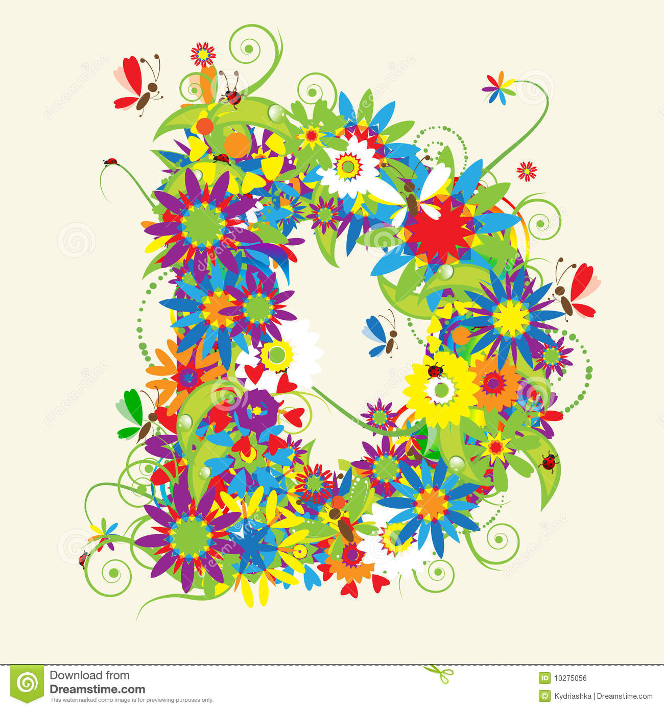 Letter d floral design stock vector illustration of bouquet 10275056 download comp thecheapjerseys Gallery