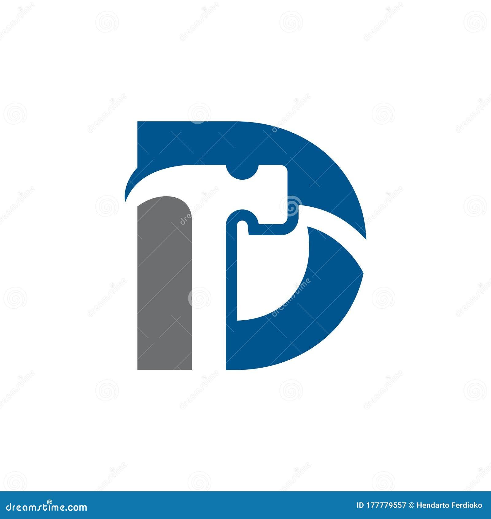 Letter D Hammer Logo Design  Renovation And Construction