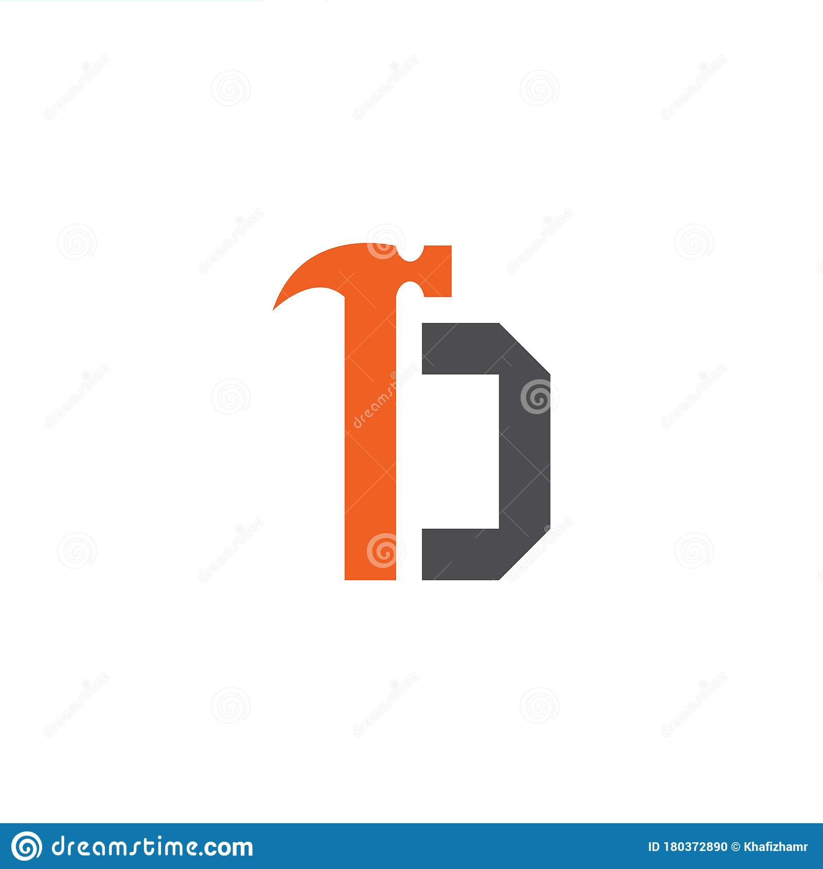 Letter D With With Hammer Renovation  Building Services
