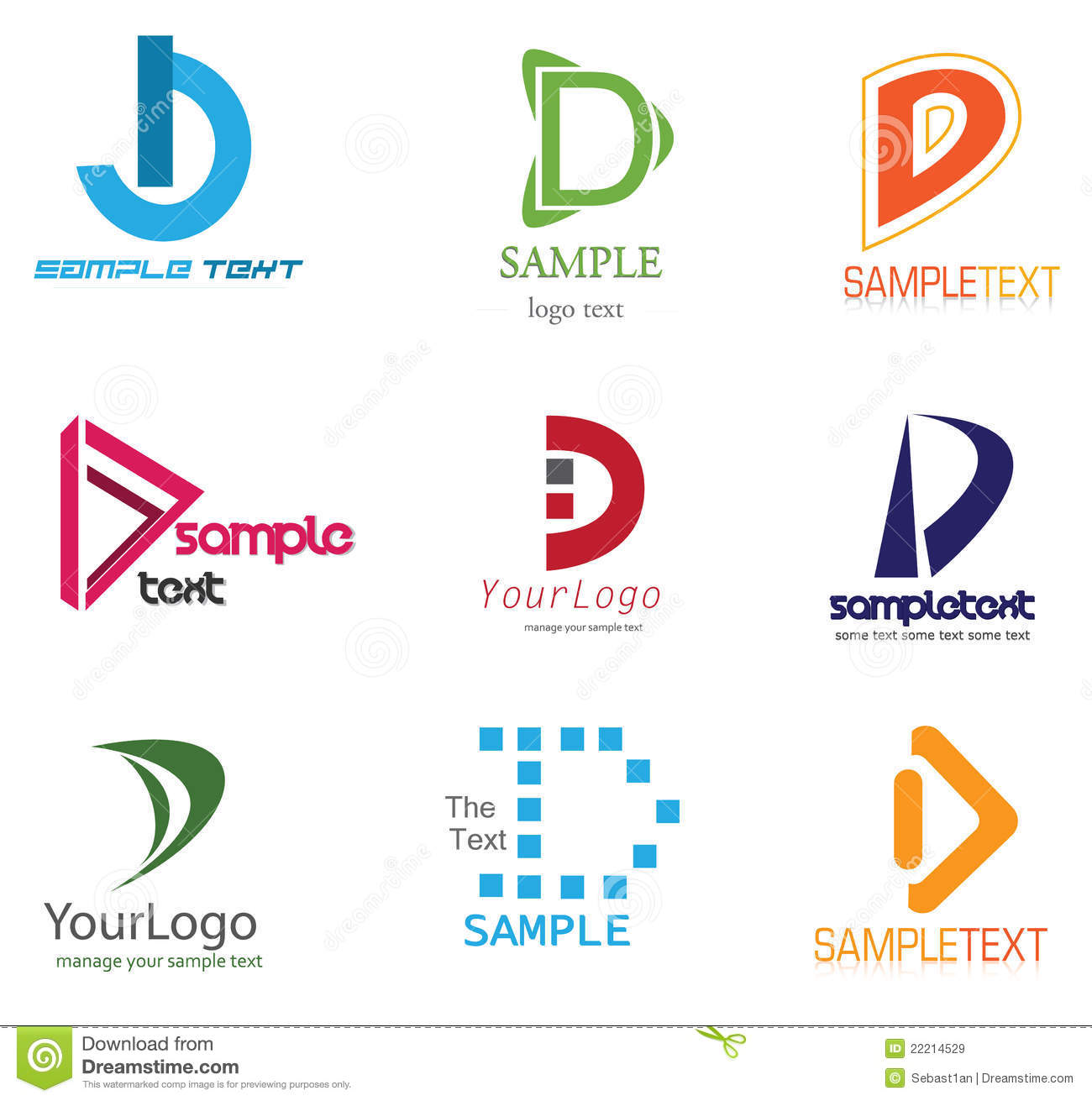 Letter d logo stock vector illustration of computers 22214529 letter d logo spiritdancerdesigns Gallery