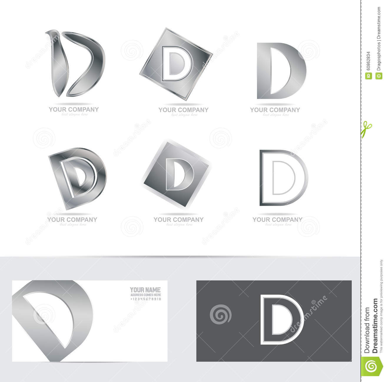 Letter d silver logo icon set stock vector illustration of letter d silver logo icon set buycottarizona