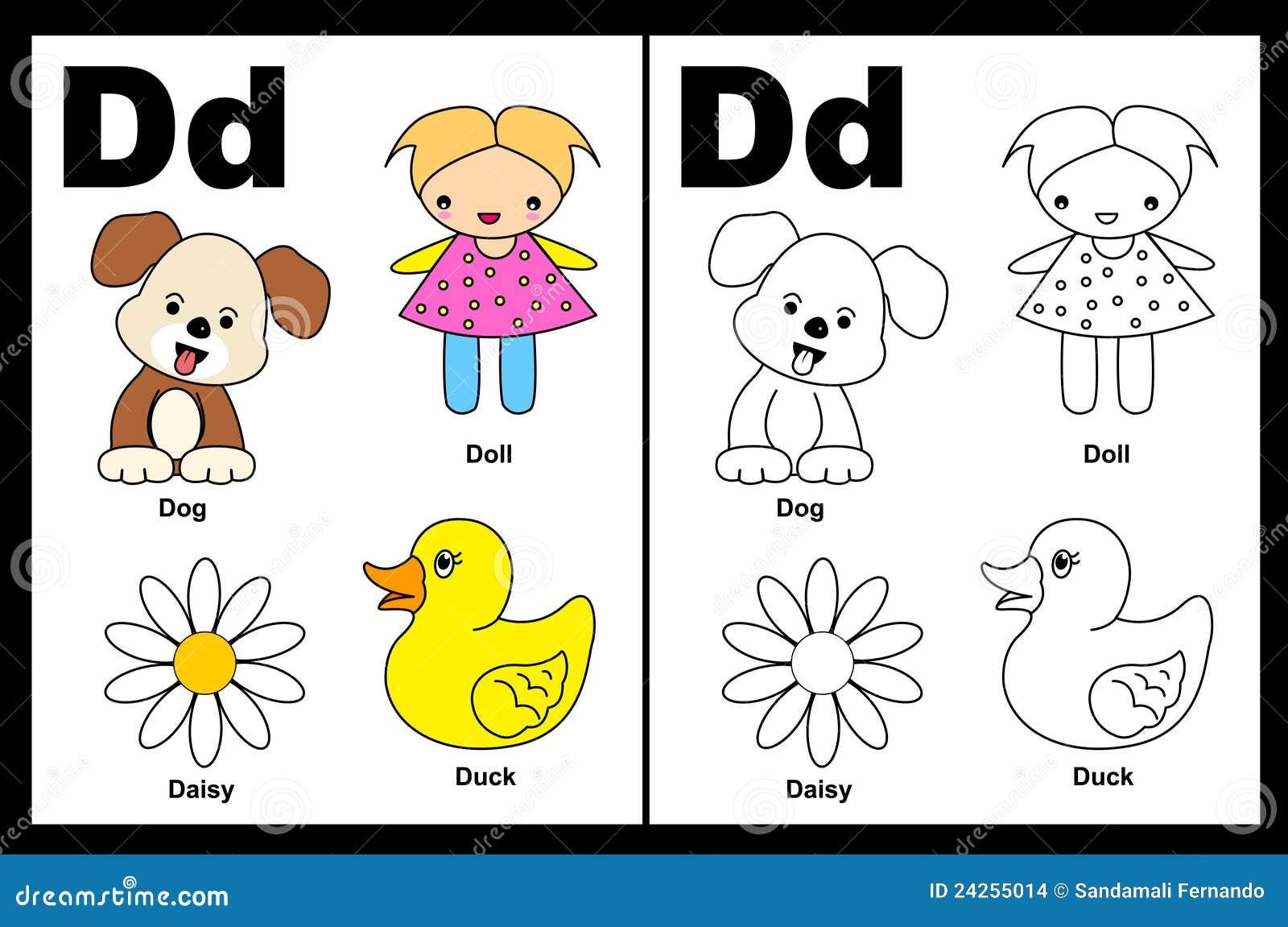 Letter D worksheet