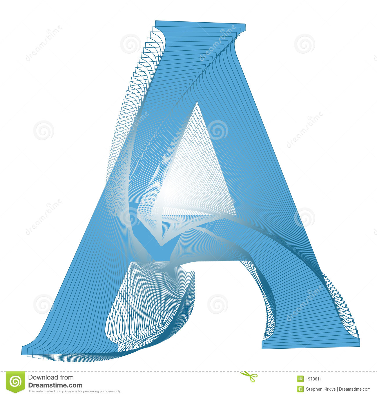 A Letter Design Stock Image - Image: 1973611