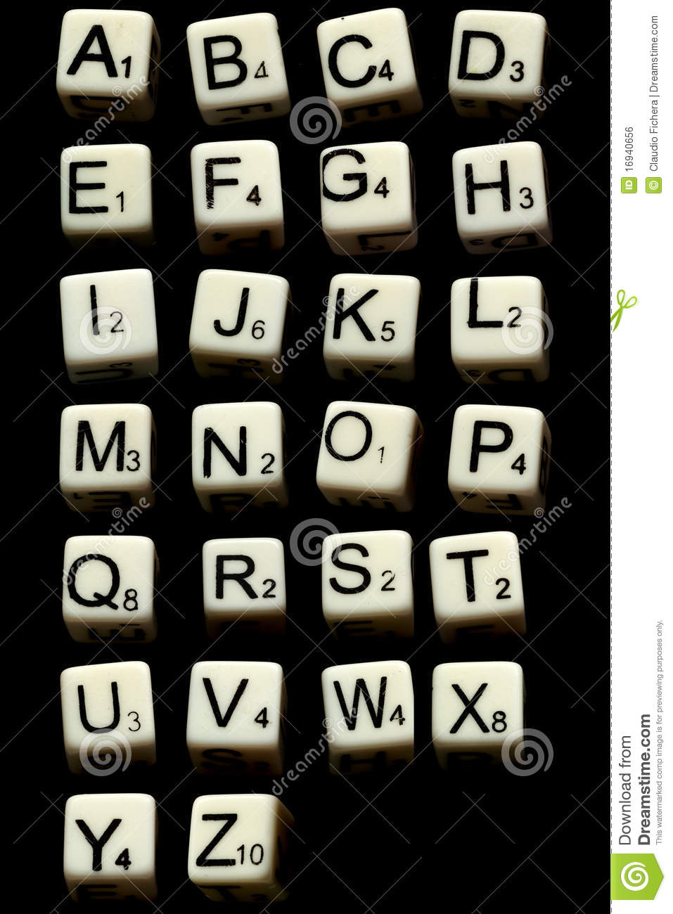 Letter dice game stock photo. Image of game, objects   16940656