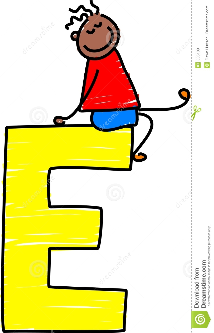 Letter E Boy Royalty Free Stock Images - Image: 605109