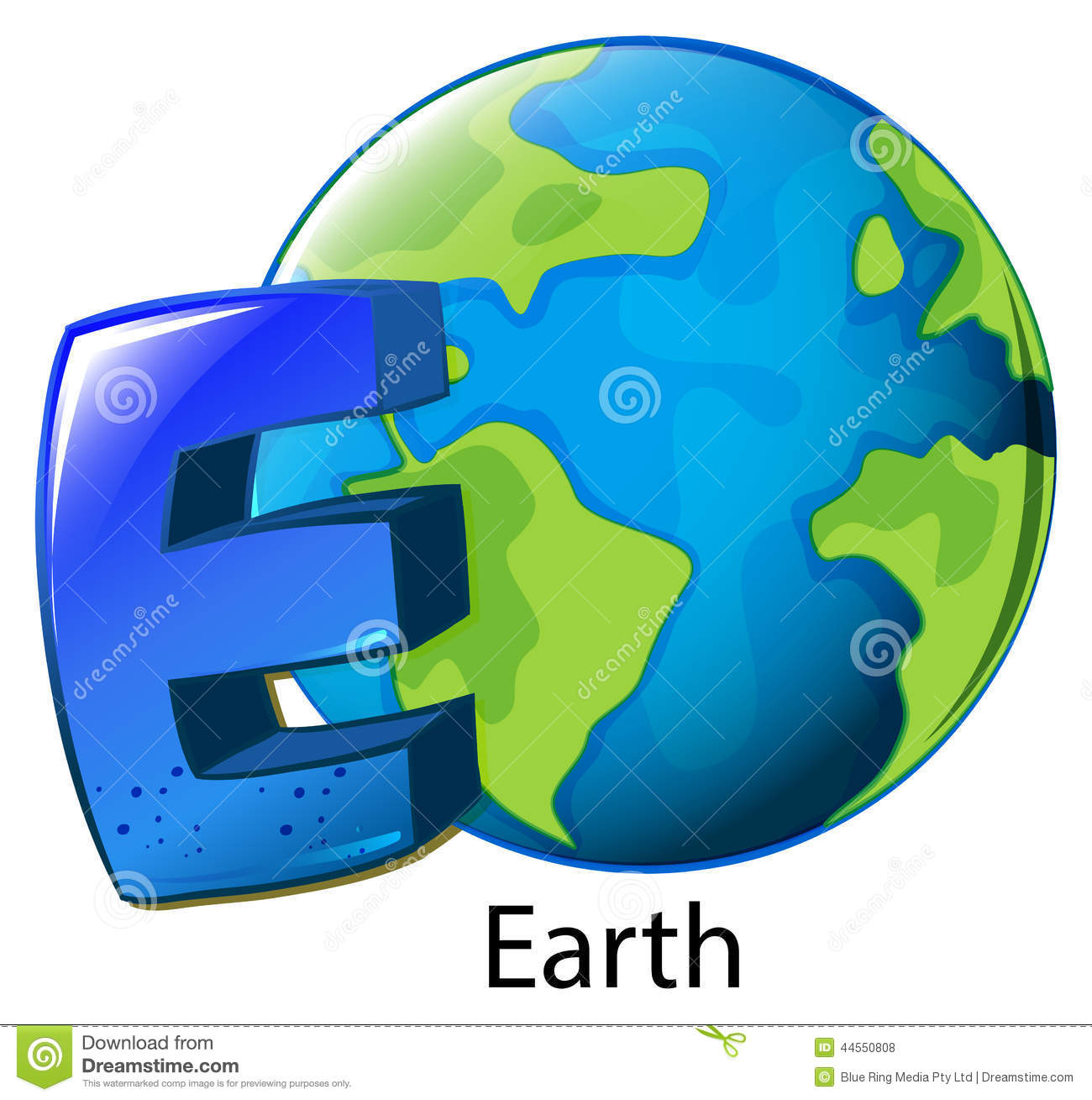 A Letter E For Earth Stock Vector Illustration Of