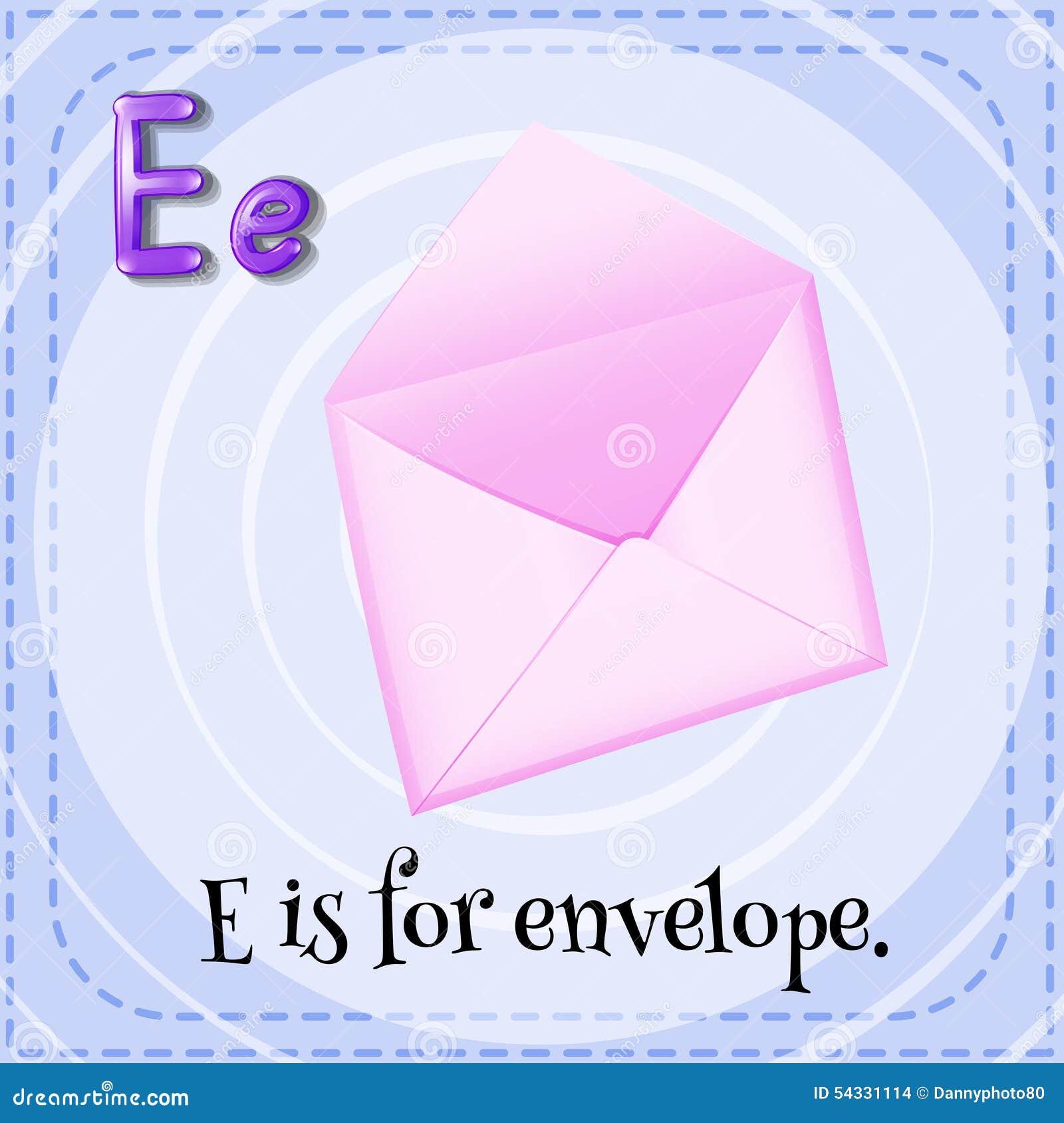 Letter E Stock Vector