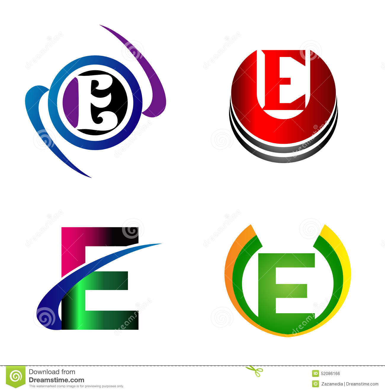 letter e logo design template letter e icon stock vector