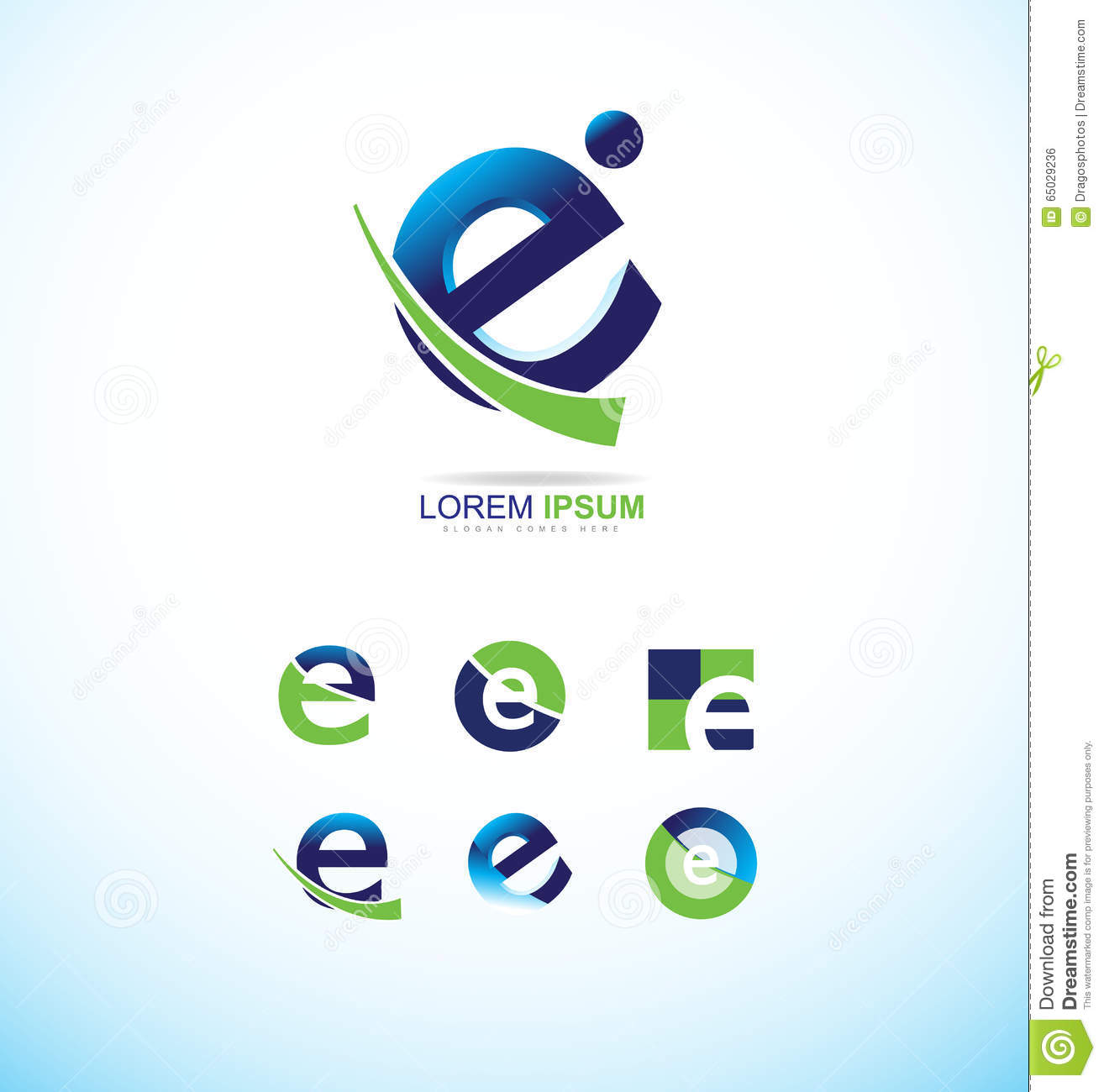 Letter E Logo Stock Vector Illustration Of Communication