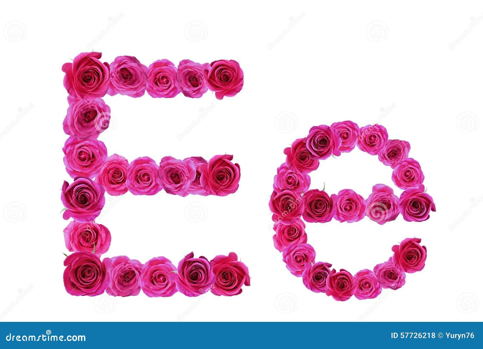Letter E Of Roses Stock Photo - Image: 57726218