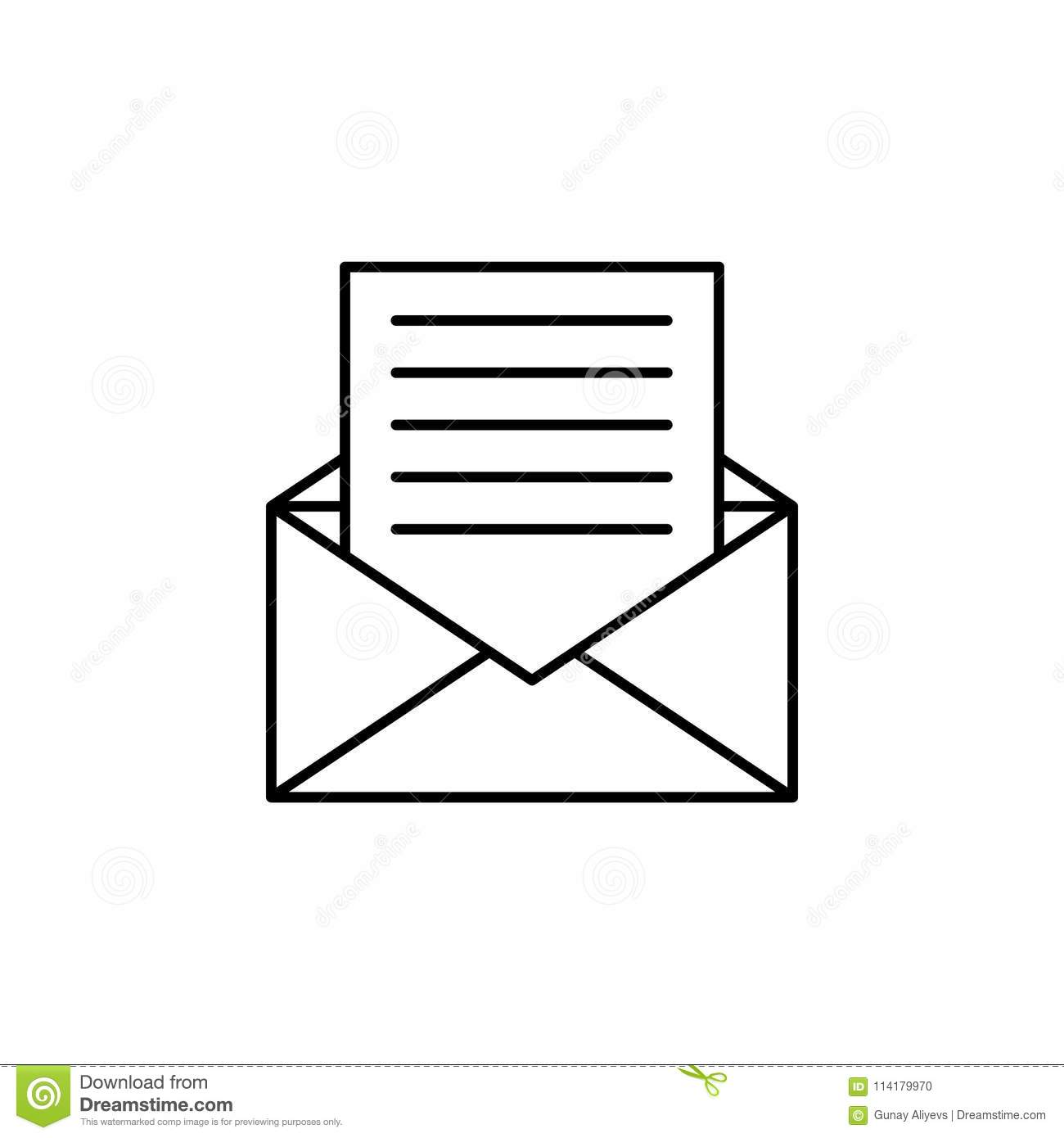letter from envelope icon element of simple icon for websites web