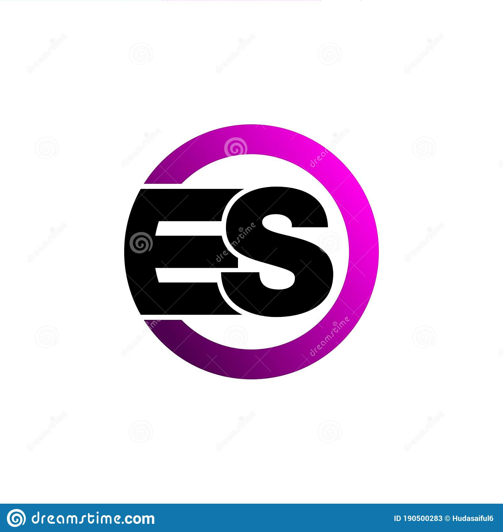 Letter Es Monogram Logo Icon Design Vector Stock Vector Illustration Of Data Icon 190500283