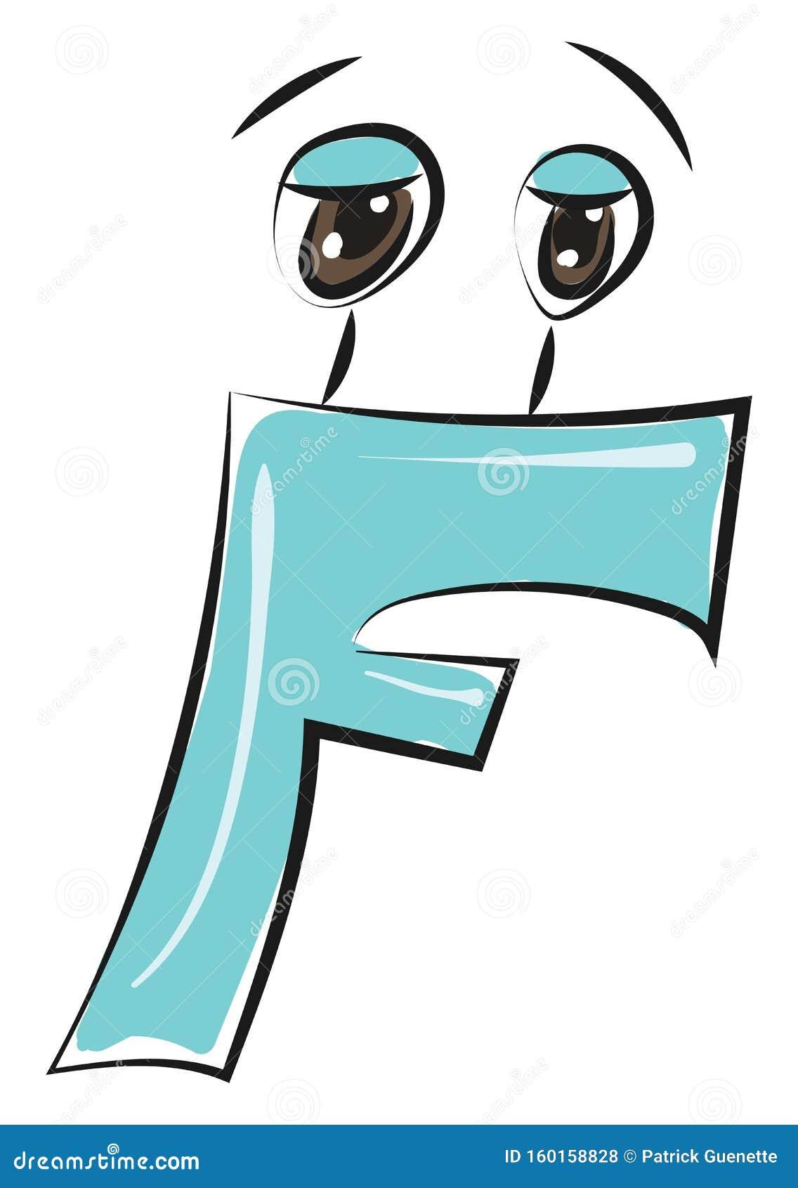 Letter F Alphabet Emoji Vector Or Color Illustration Stock Vector Illustration Of Emoji School 160158828