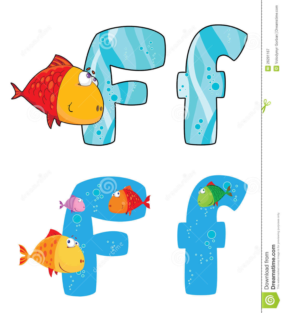 Letter F Fish Royalty Free Stock Photography - Image: 26291167