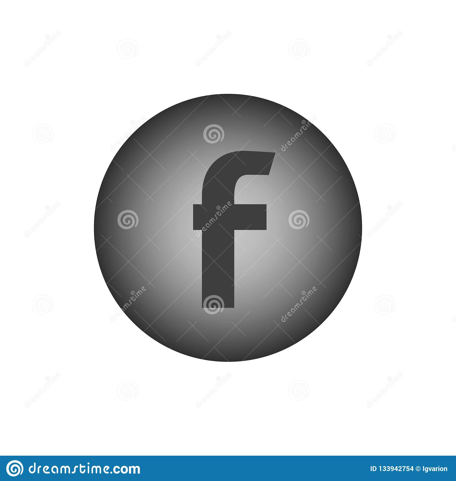 Letter F. Flat web icon
