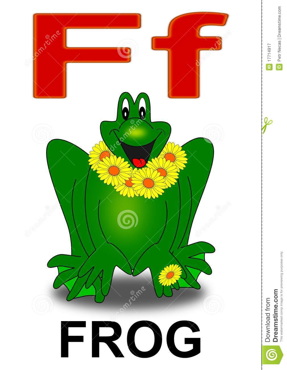 Letter F Frog Royalty Free Stock graphy Image