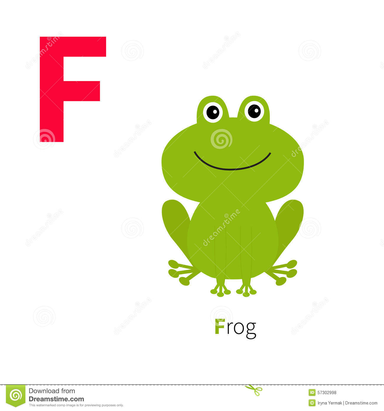 Fabuleux Letter F Frog Zoo Alphabet. English Abc With Animals Education  SL99
