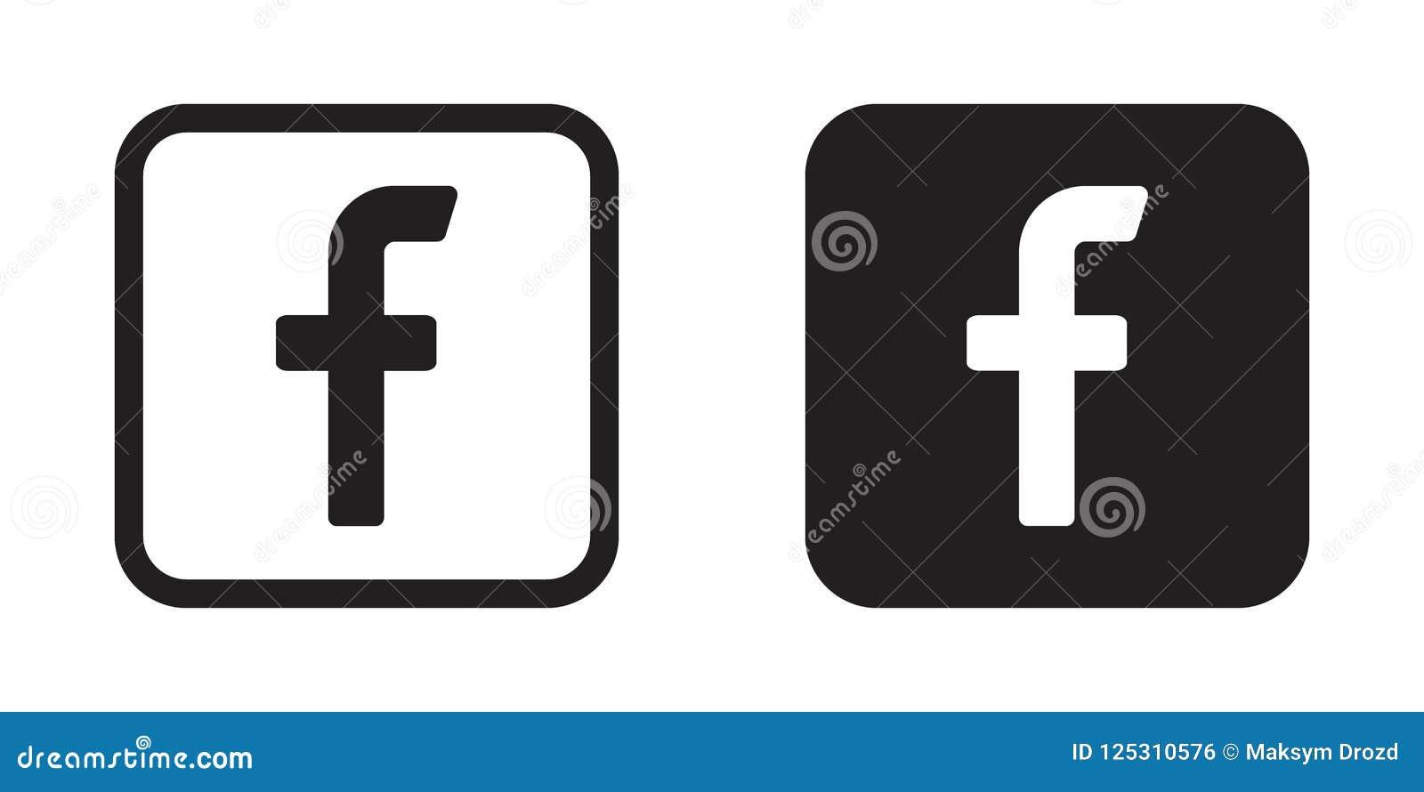 Letter F Icon Social Media Icon Facebook Icon Editorial Photo