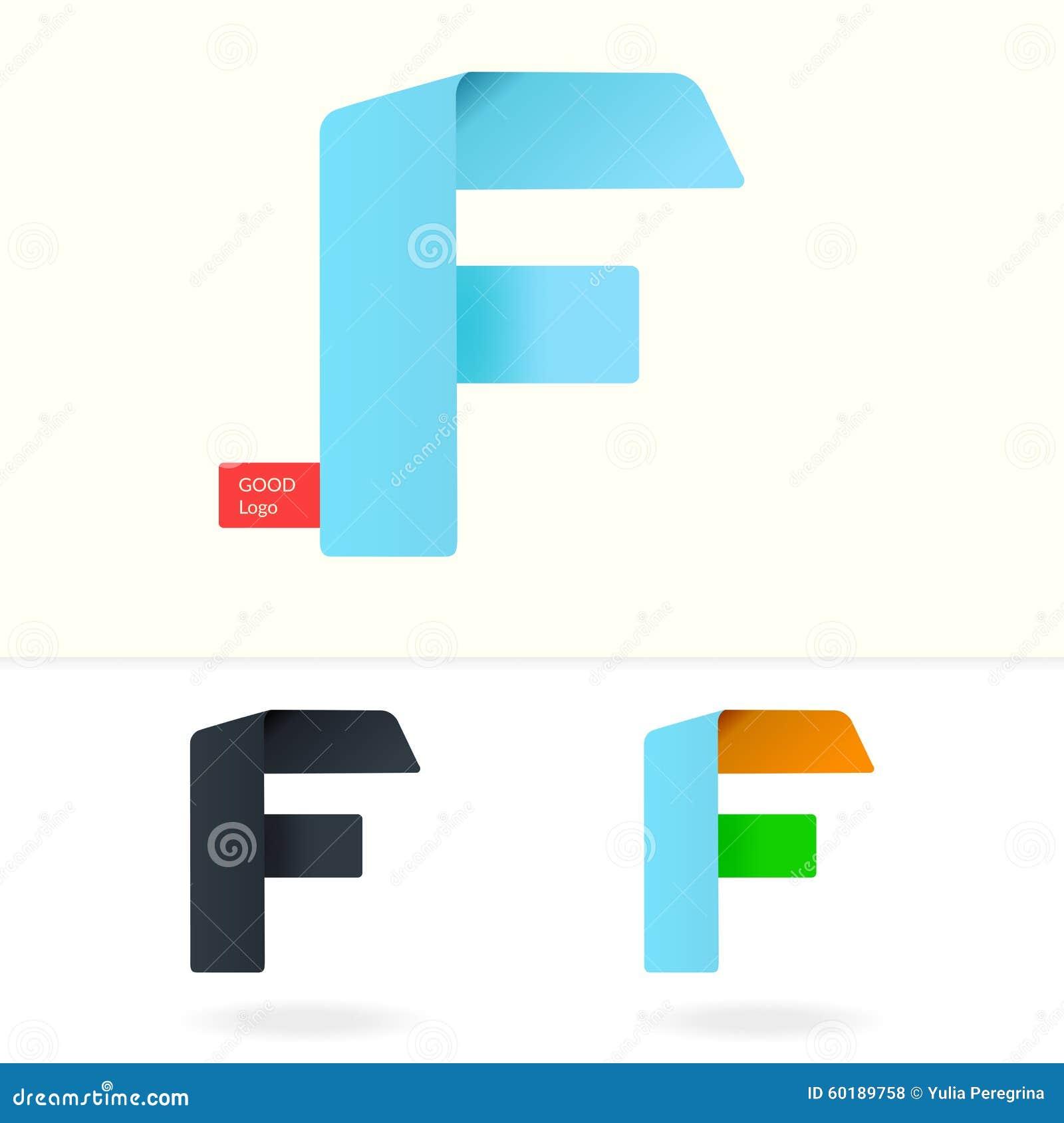 Letter F Logo Design Template Stock Illustration