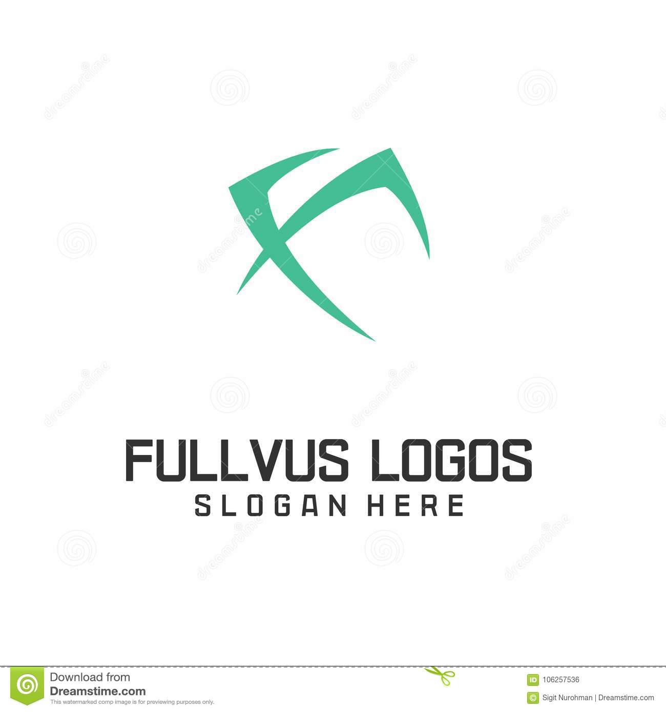 Letter F Logo Icon Design Template Elements Stock Vector