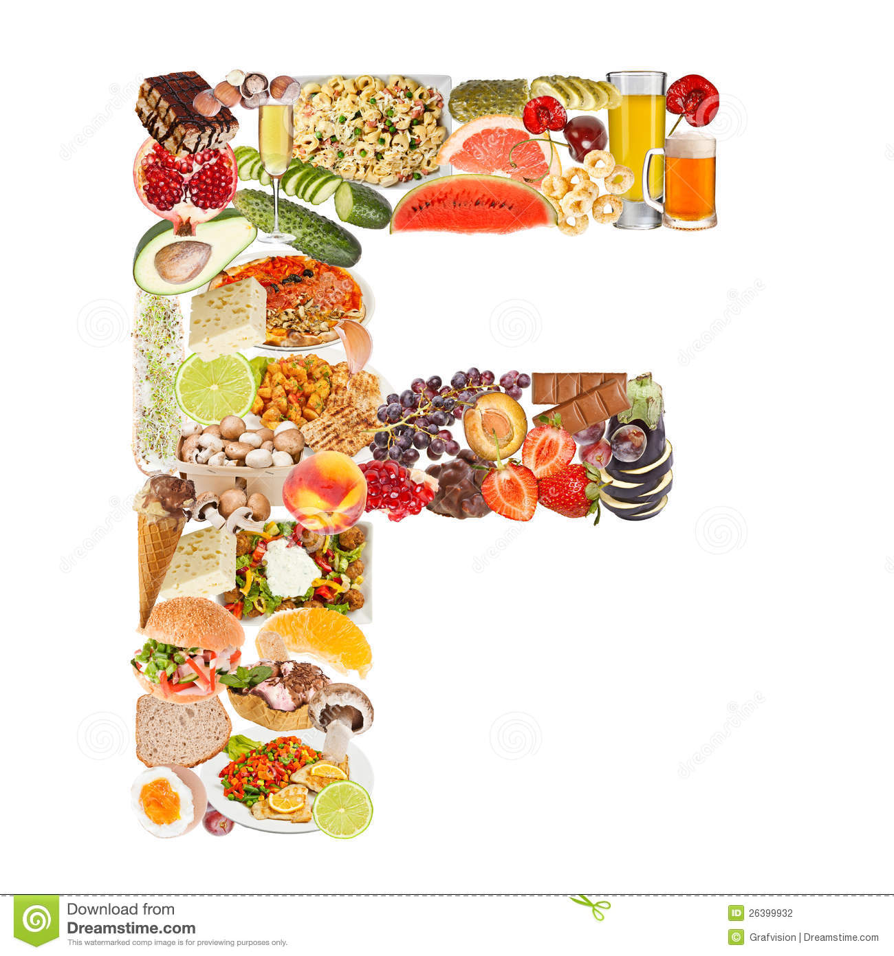 letter f made of food stock photography image 26399932. Black Bedroom Furniture Sets. Home Design Ideas