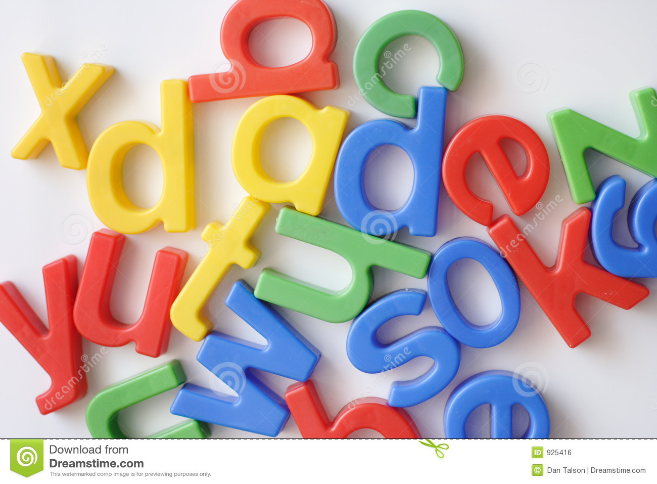 Letter fridge magnets
