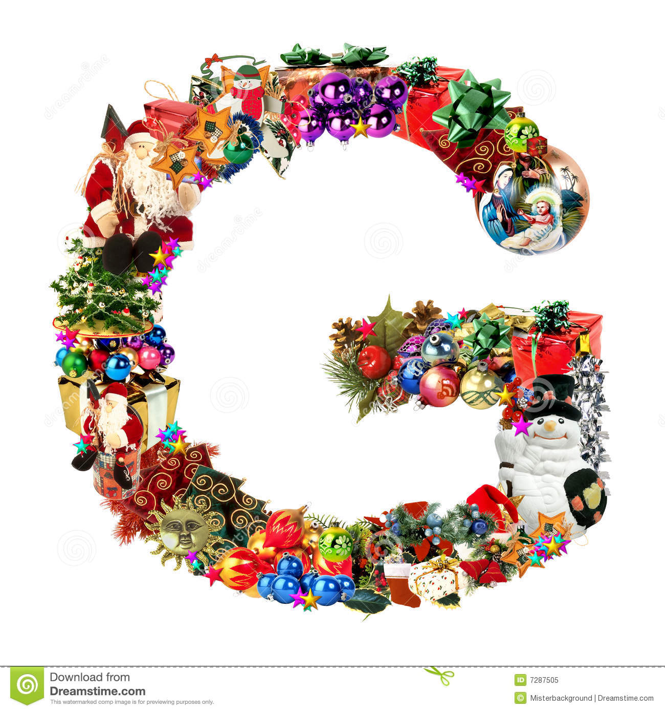 Letter g for christmas decoration royalty free stock for Letter f decoration