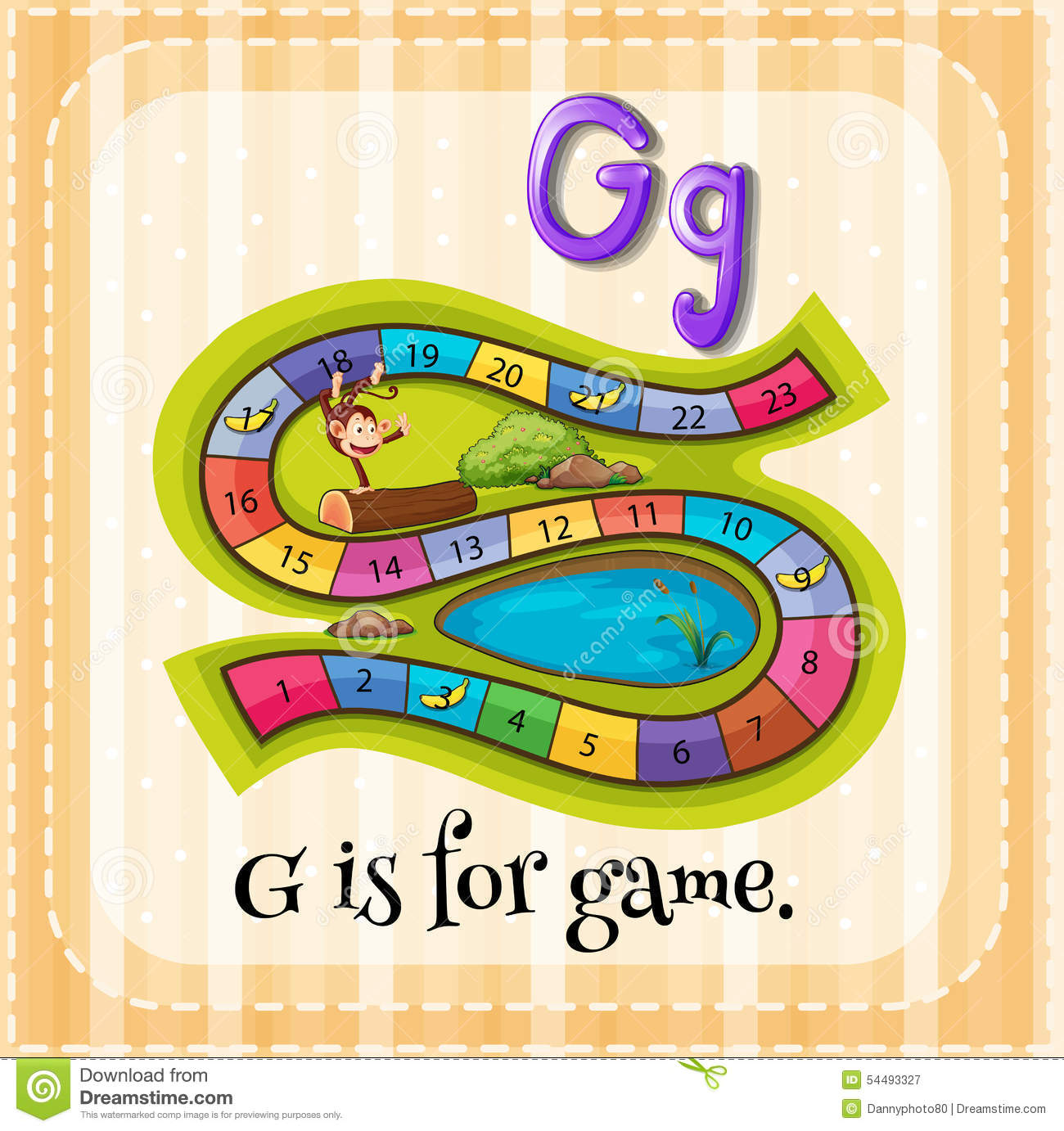 Letter G Stock Illustration - Image: 54493327: dreamstime.com/stock-illustration-letter-g-flashcard-game...