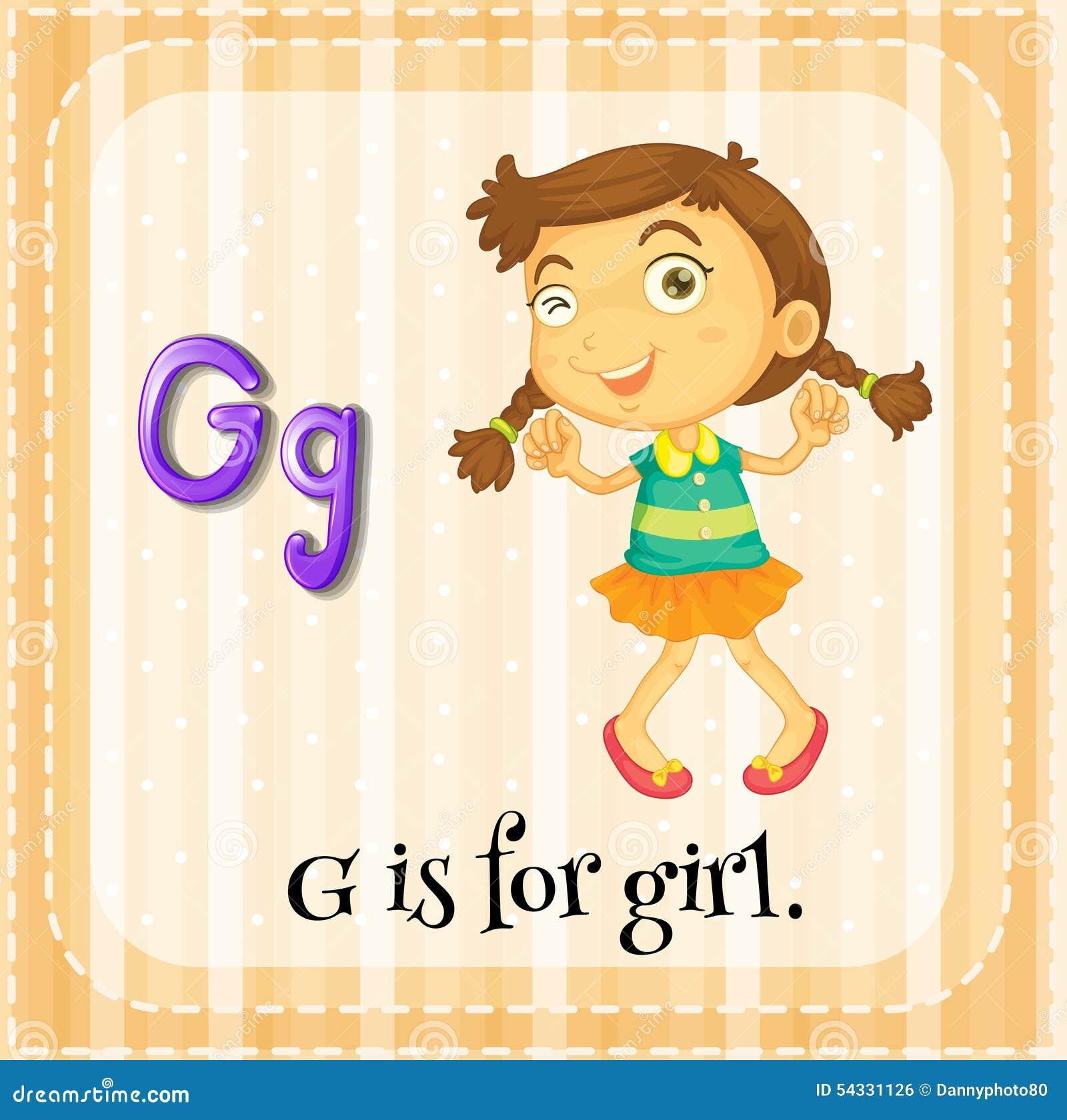 Stock Illustration Letter G Flashcard Girl Image54331126 on Airplane Worksheets