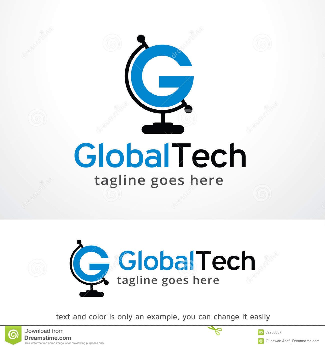 Letter G Global Logo Template Design Vector Emblem Design Concept