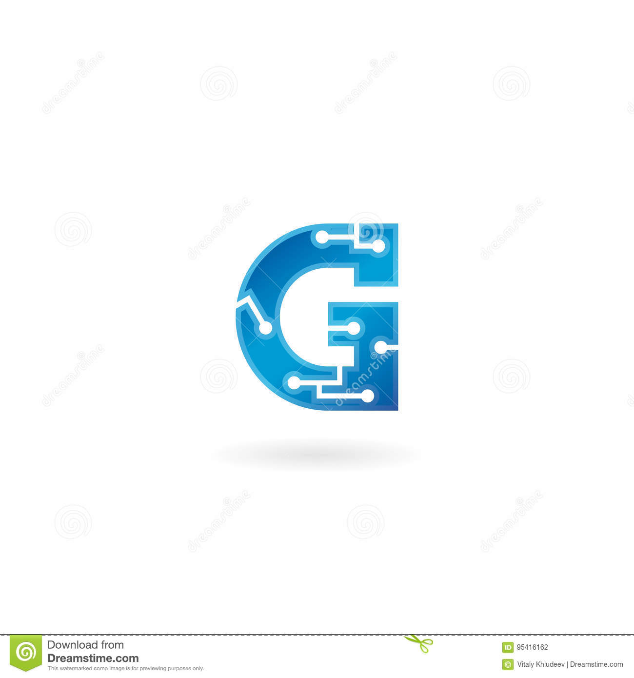 Letter G icon. Technology Smart logo, computer and data related business, hi-tech and innovative, electronic.