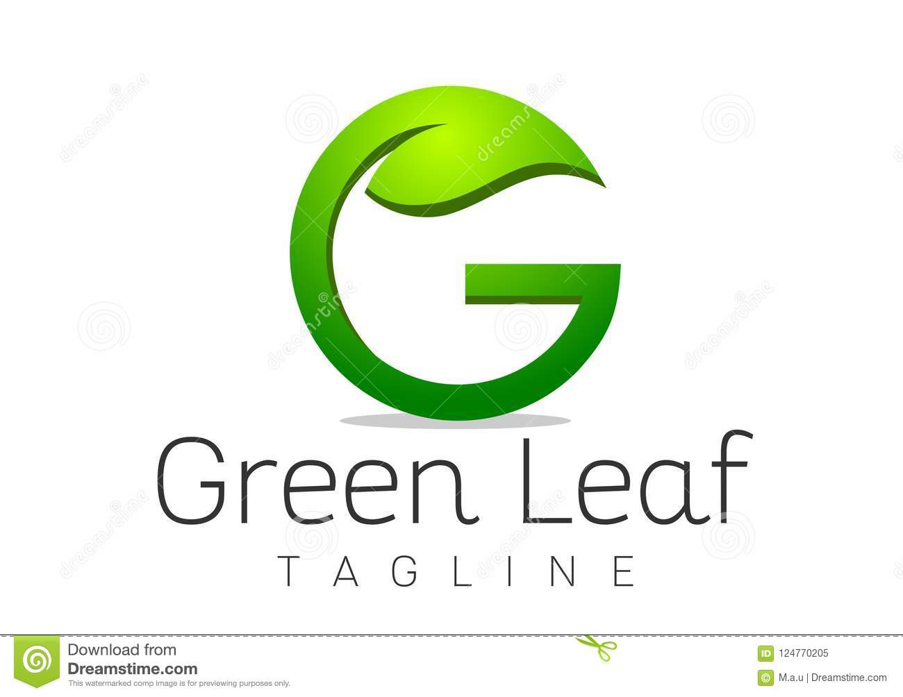 Letter G Leaf Logo Design Template Vector Stock Vector