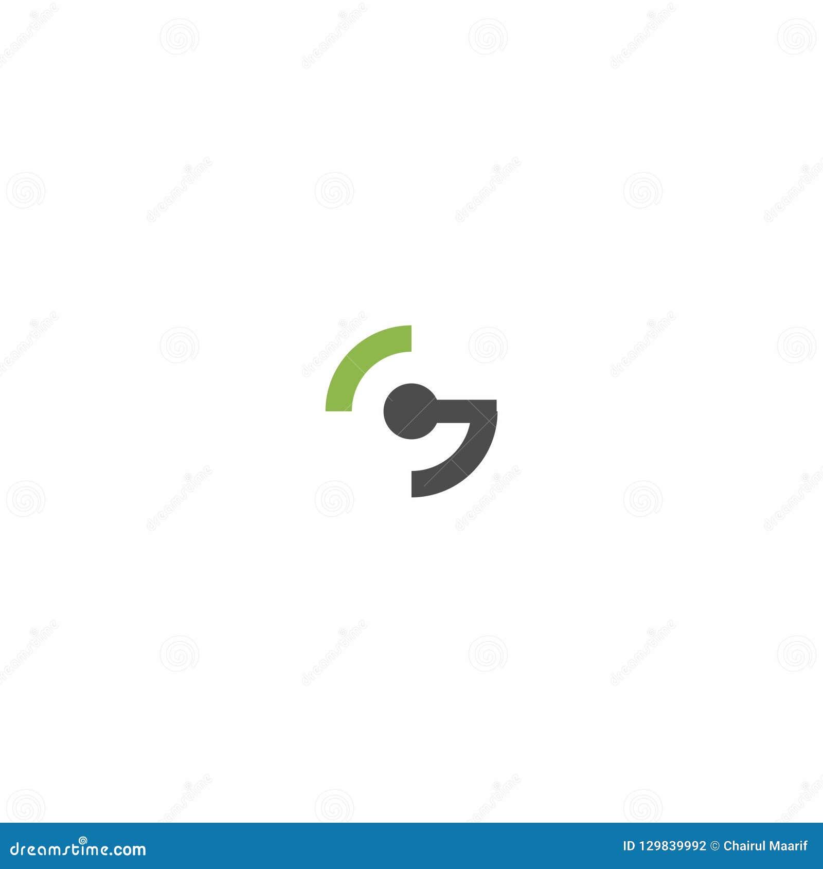 Letter G And Circle Logo Design Stock Vector Illustration