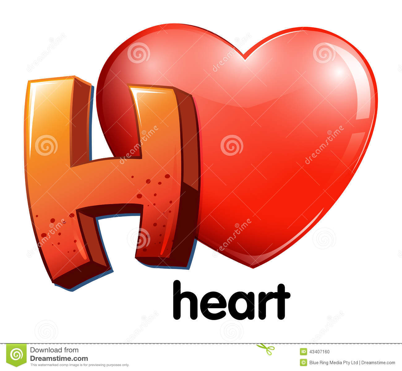 H Letter In Heart A Letter H For Heart S...