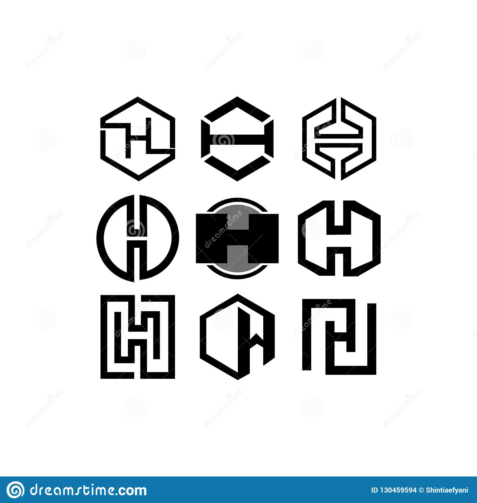 7ad73082f74 Letter H logo icon design template elements. Abstract vector icon. Royalty- Free Illustration