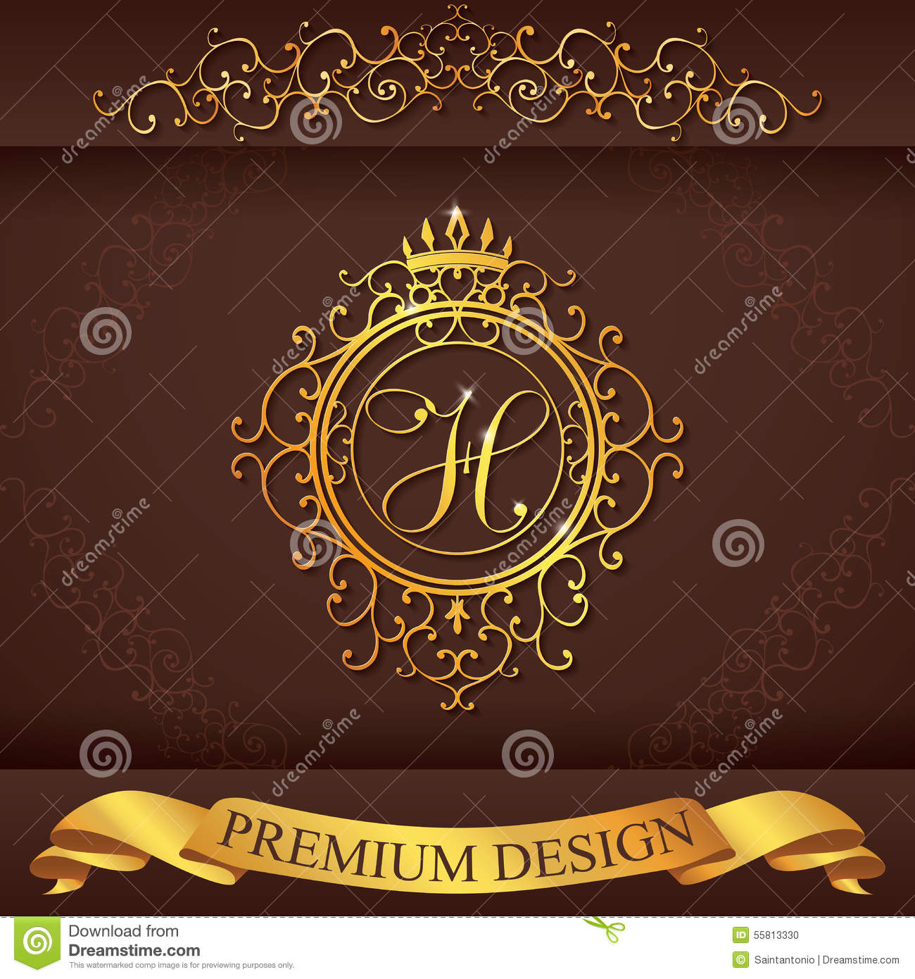 Letter L. Luxury Logo Template Flourishes Calligraphic ...