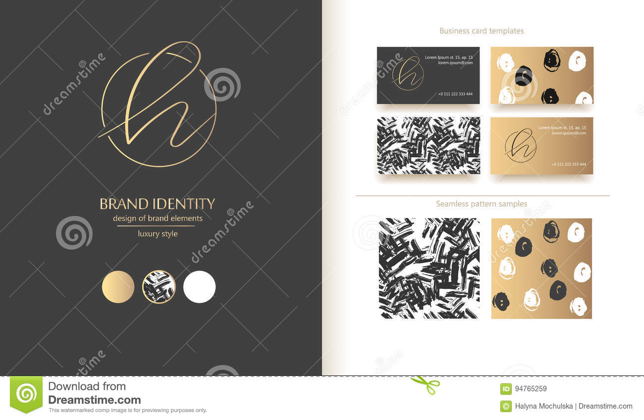 Letter H Vector Logo. Design Includs Two Business Card Templates And ...