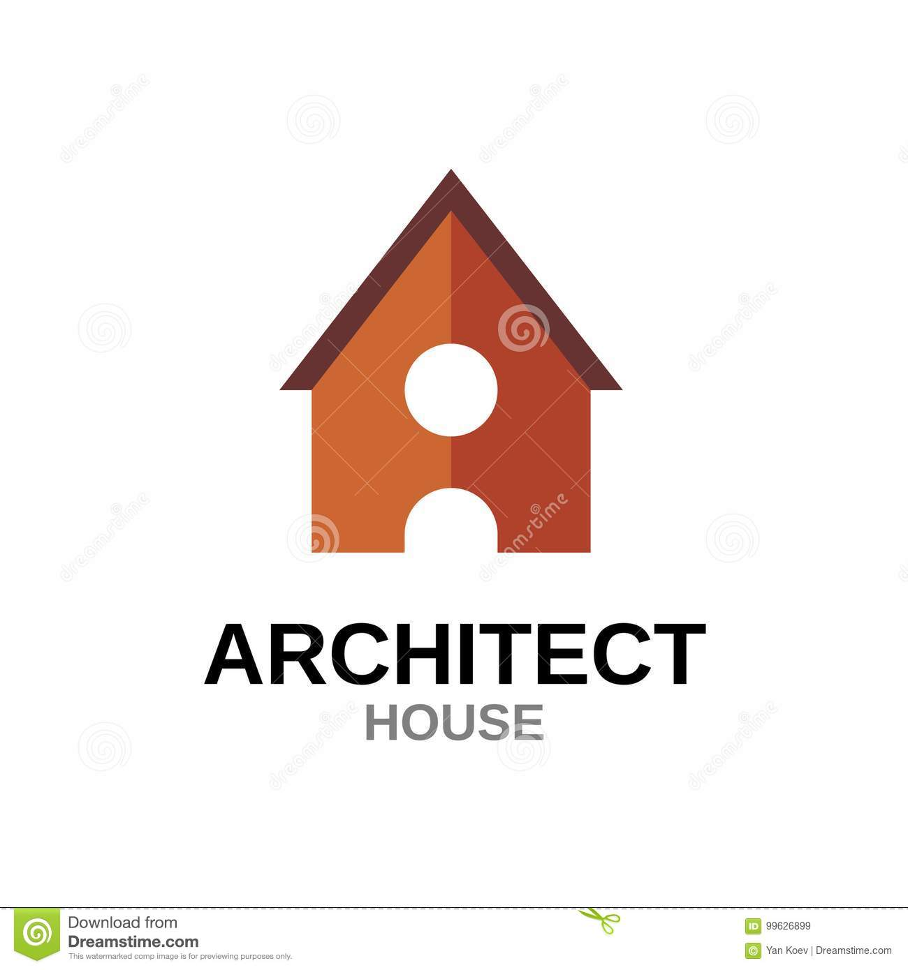 Letter A House Concept  Building With Door  Stock Vector