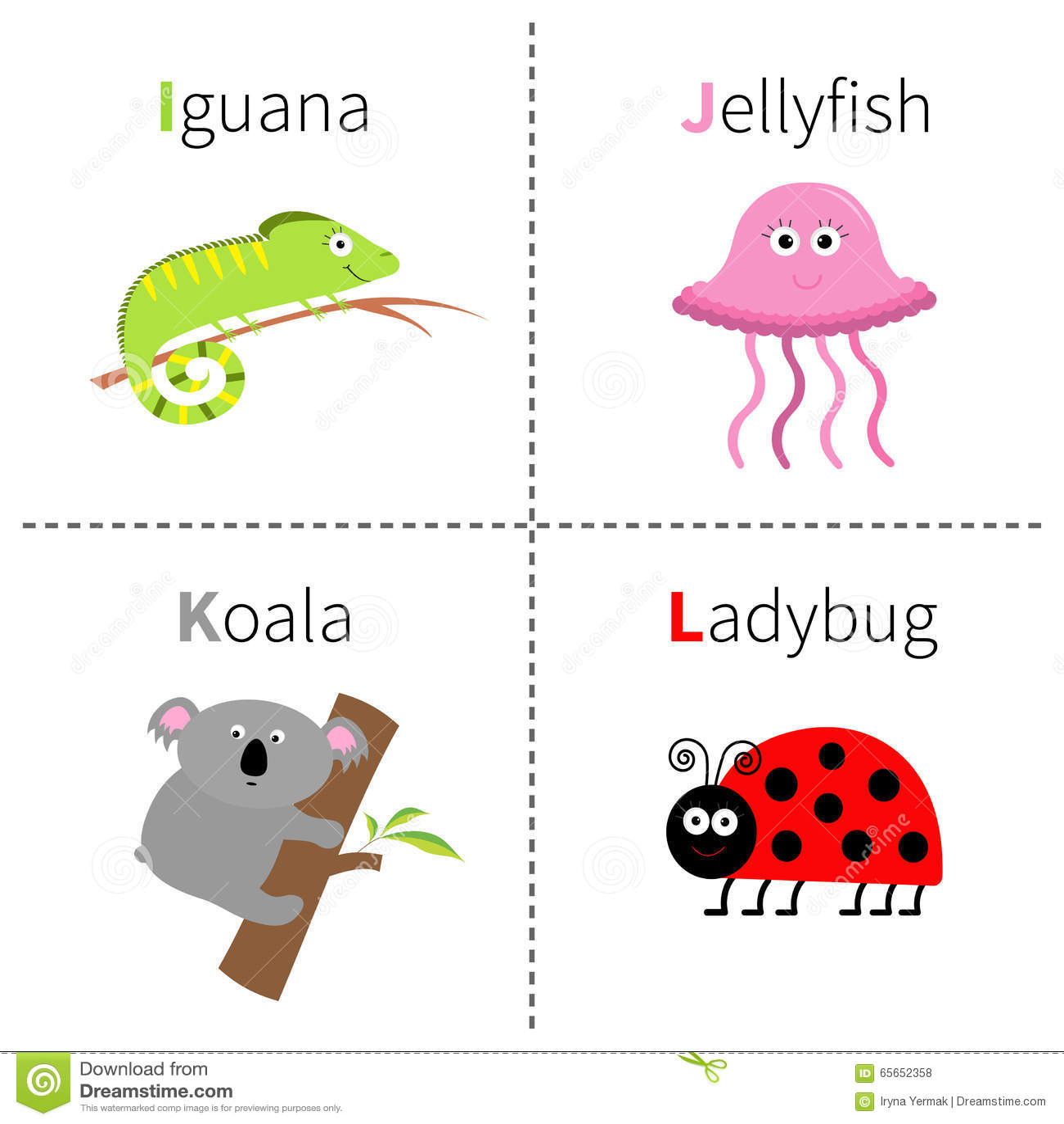 koala k letter cute children animal alphabet in funny stock