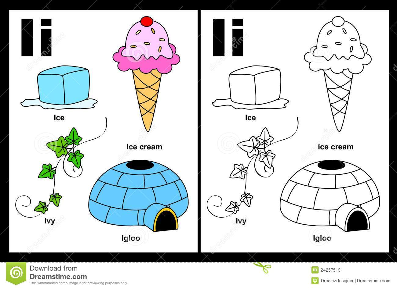... with colorful cliparts and coloring graphics children worksheet