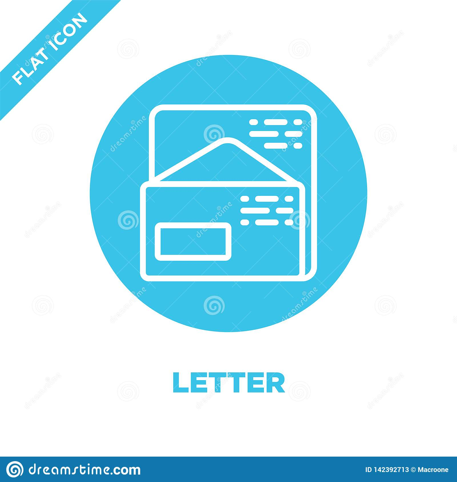 letter icon vector from stationery collection. Thin line letter outline icon vector  illustration. Linear symbol for use on web